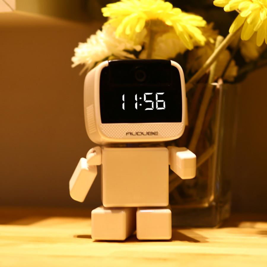 Audube Robot Hidden Wi Fi Security Camera With Led Clock
