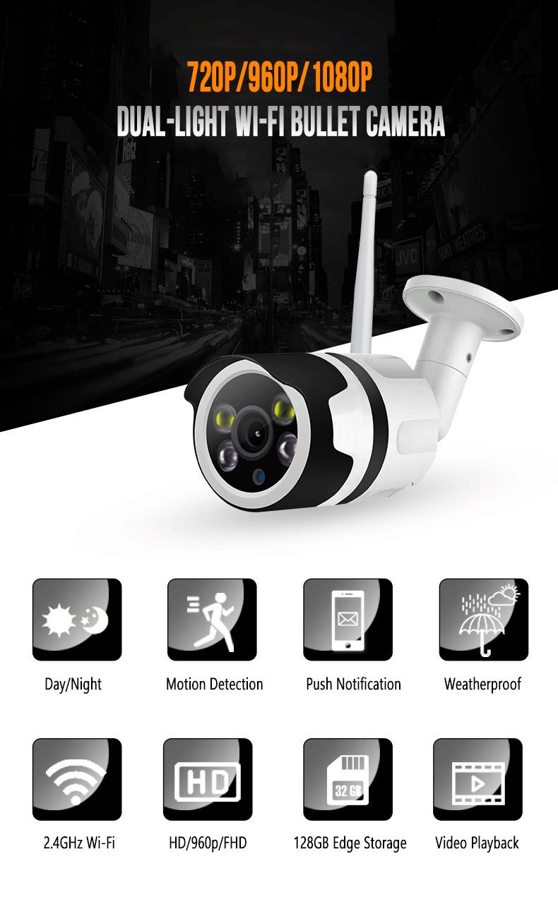 Yoosee Outdoor Dual Light Wireless Security Camera Audio